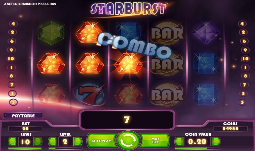 Starburst Combo Win