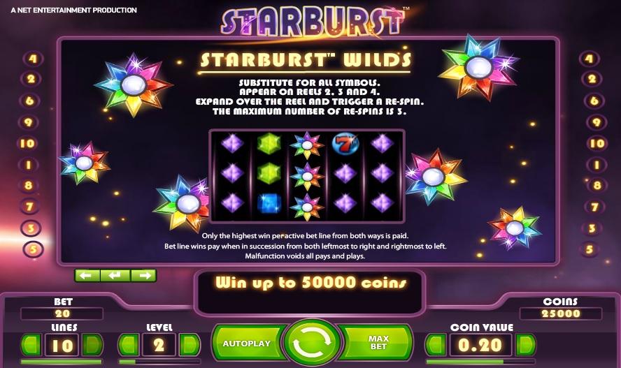 Starburst Wilds Feature Info