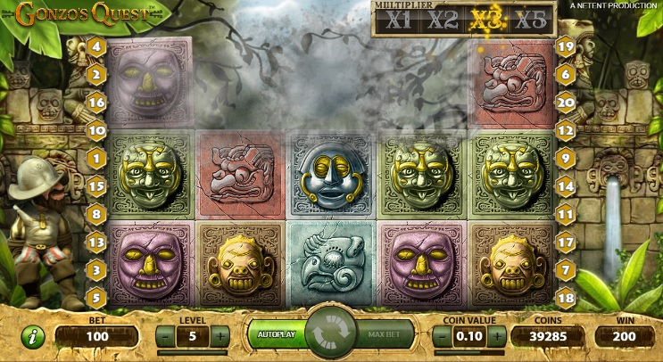 Gonzo's Quest Win Multiplier 3X