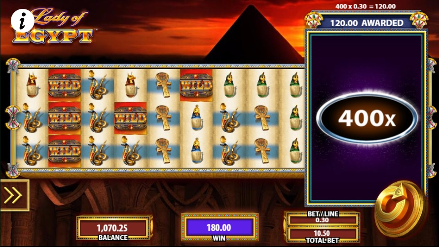 Lady of Egypt Final Jackpot Multiplier