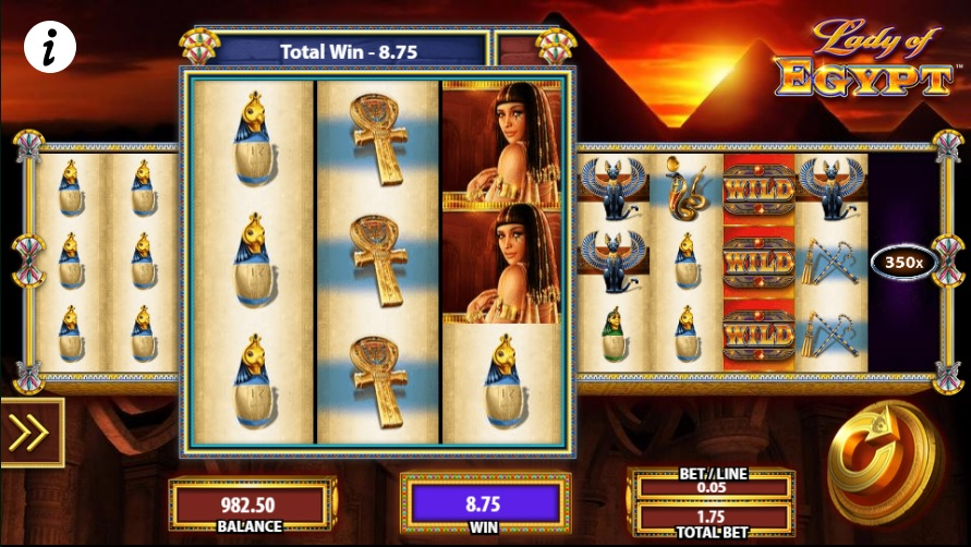 Lady of Egypt Normal Win