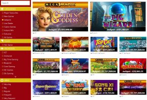 plush casino jackpot games