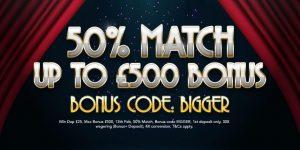 BIGGER Deposit Bonus Logo
