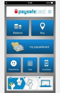 Psayfecard App Home Screen