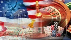 American Flag With Casino Games