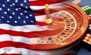 Roulette Wheel With American Flag