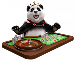 Royal Panda Behind Roulette Table