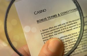 no deposit bonus terms